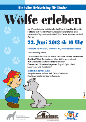 Wlfe erleben am 22.06.2013 im Das Nordlicht fr Notfelle